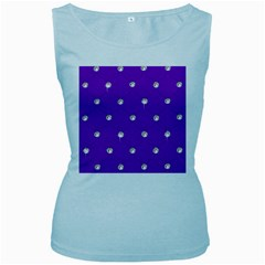 Royal Purple Sparkle Bling Baby Blue Womens  Tank Top by artattack4all