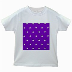 Royal Purple Sparkle Bling White Kids'' T Shirt by artattack4all