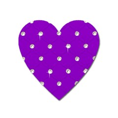Royal Purple Sparkle Bling Large Sticker Magnet (heart) by artattack4all