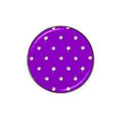 Royal Purple Sparkle Bling 10 Pack Golf Ball Marker (for Hat Clip) by artattack4all