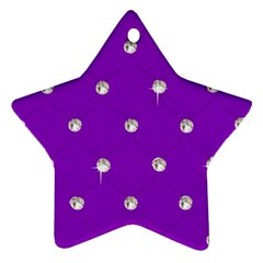 Royal Purple Sparkle Bling Twin Sided Ceramic Ornament (star) by artattack4all