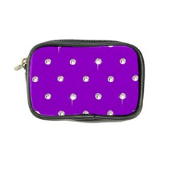 Royal Purple Sparkle Bling Ultra Compact Camera Case by artattack4all