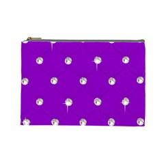 Royal Purple Sparkle Bling Large Makeup Purse