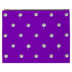 Royal Purple Sparkle Bling Cosmetic Bag (xxxl) by artattack4all