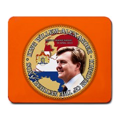 King Willem Alexander Large Mouse Pad (rectangle) by artattack4all