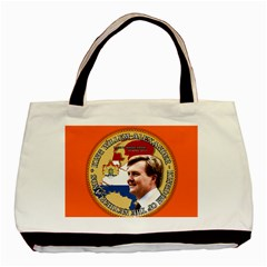 King Willem Alexander Twin Sided Black Tote Bag by artattack4all
