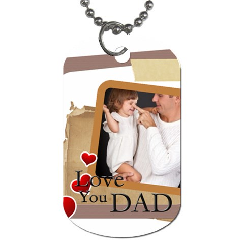 Dad By Jo Jo   Dog Tag (one Side)   4kdp89d6hajw   Www Artscow Com Front