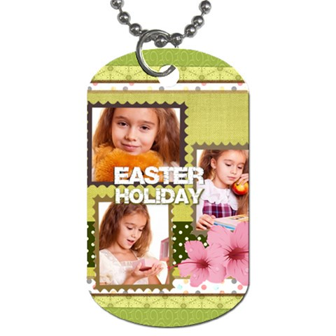Kids, Easter By Joely   Dog Tag (one Side)   Zhp6mpv15shv   Www Artscow Com Front
