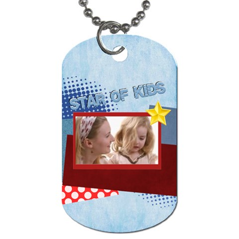 Kids, Easter By Joely   Dog Tag (one Side)   Ogltldgevcir   Www Artscow Com Front
