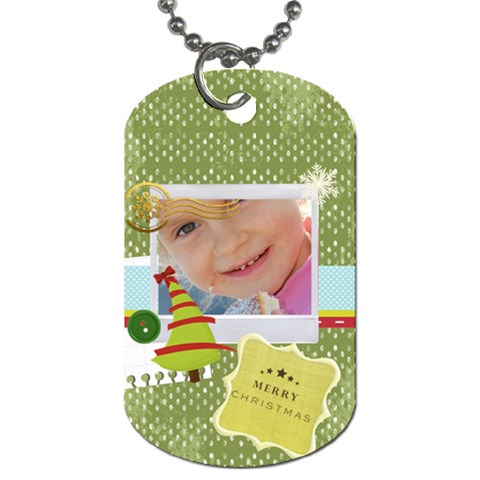Family, Xmas By Jo Jo   Dog Tag (one Side)   Tv37m5tm3gbr   Www Artscow Com Front