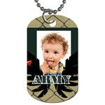 kids, army - Dog Tag (One Side)