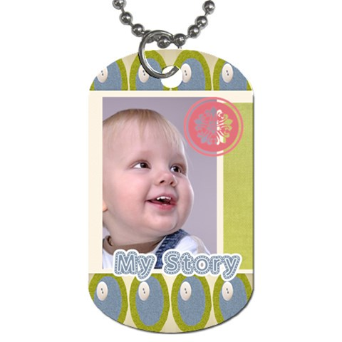 Kids By Debe Lee   Dog Tag (one Side)   F90kht6i4y3r   Www Artscow Com Front