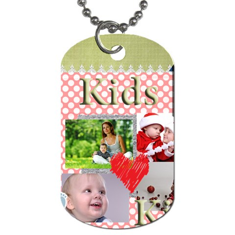 Kids By Debe Lee   Dog Tag (one Side)   Ky6ibg0meb3u   Www Artscow Com Front