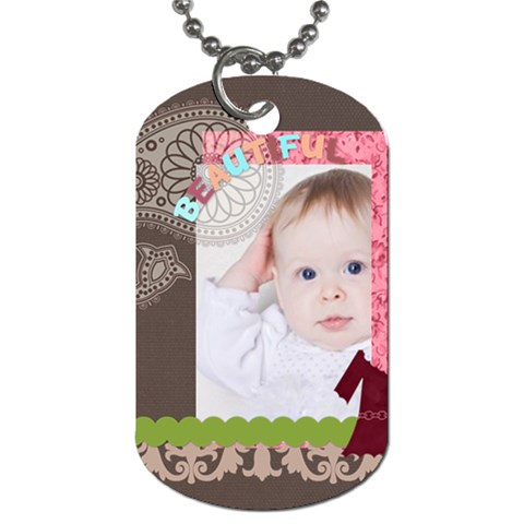 Kids By Betty   Dog Tag (one Side)   Dwmer3plidp6   Www Artscow Com Front