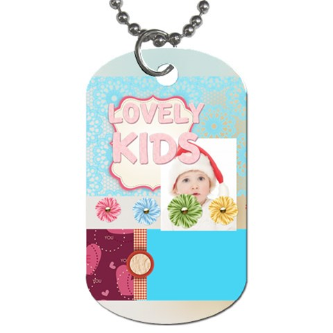 Kids By Betty   Dog Tag (one Side)   Z6bud2e4lzb4   Www Artscow Com Front