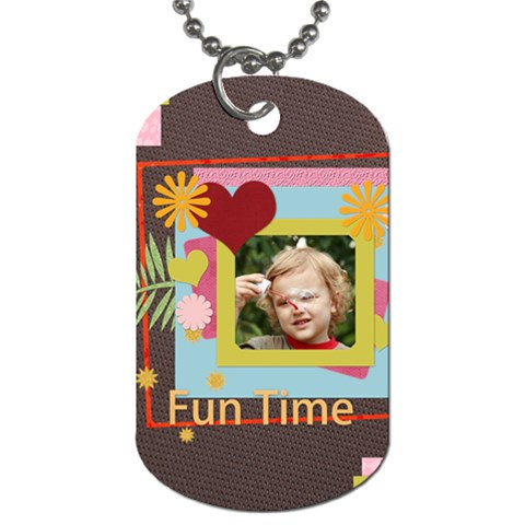 Kids By Jacob   Dog Tag (one Side)   Elycvx9725dh   Www Artscow Com Front