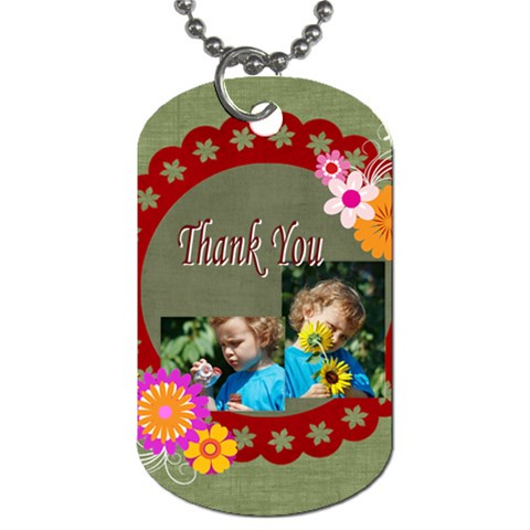 Kids, Thank You By Jacob   Dog Tag (one Side)   2de2g7zv4rj3   Www Artscow Com Front