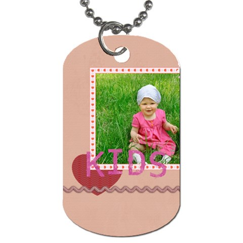 Kids By Jacob   Dog Tag (one Side)   3impljyf95ct   Www Artscow Com Front