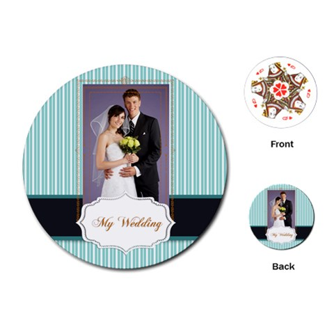 Wedding By Paula Green   Playing Cards (round)   9u0o3pqmtfzd   Www Artscow Com Front