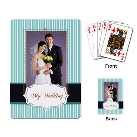 Wedding By Paula Green   Playing Cards Single Design   Sve02ksofafo   Www Artscow Com Back