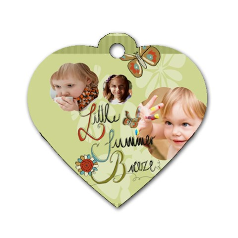 Kids, Love, Happy, Play, Fun, Child By Jacob   Dog Tag Heart (one Side)   Qe2z0iew230z   Www Artscow Com Front