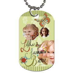 Kids, Love, Happy, Play, Fun, Child By Jacob   Dog Tag (two Sides)   5ltyi5uzx699   Www Artscow Com Front