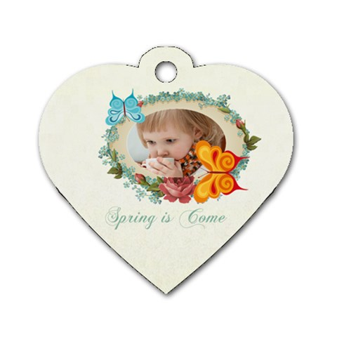 Kids, Love, Happy, Play, Fun, Child By Jacob   Dog Tag Heart (one Side)   Gkgbnnnshlda   Www Artscow Com Front