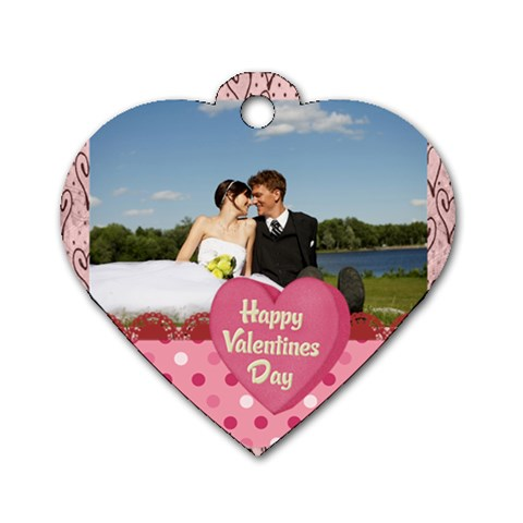 Kids, Love, Happy, Play, Fun, Child By Jacob   Dog Tag Heart (one Side)   Lag0o5wtrfjk   Www Artscow Com Front