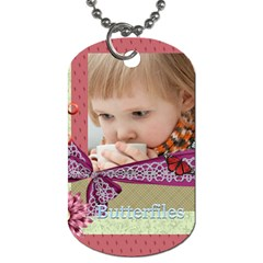 Kids, Love, Happy, Play, Fun, Child By Jacob   Dog Tag (two Sides)   V287fq4xc6cm   Www Artscow Com Front