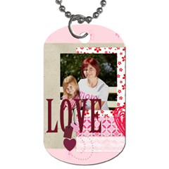 Love,memory, Happy, Fun  By Jacob   Dog Tag (two Sides)   Uv0qpv3o18vt   Www Artscow Com Front