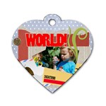 kids, fun, child, play, happy - Dog Tag Heart (One Side)