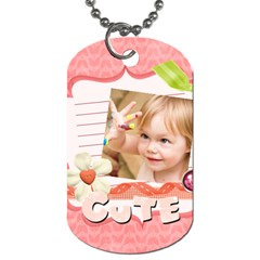 Kids, Love, Family, Happy, Play, Fun By Jacob   Dog Tag (two Sides)   Vfo277j1axmg   Www Artscow Com Front
