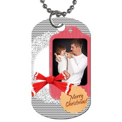 Merry Christmas, Xmas, Happy New Year  By Jo Jo   Dog Tag (two Sides)   Gz480hoocw22   Www Artscow Com Back