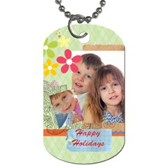 Kids By Jo Jo   Dog Tag (two Sides)   Jbzfqskb4pdn   Www Artscow Com Front