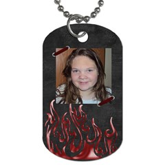 Alaina By Allison Buice   Dog Tag (two Sides)   Cw8gdmvv5btr   Www Artscow Com Front
