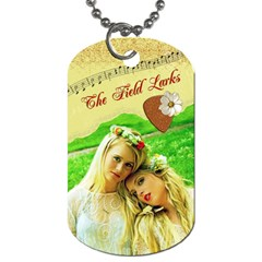 The Field Larks Dog Tag (2 Sides) By Pat Kirby   Dog Tag (two Sides)   2082nz1s3kmg   Www Artscow Com Front