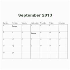 2013 Calendar Mod2 By J  Richardson   Wall Calendar 11  X 8 5  (12 Months)   S0yzl8sceuw5   Www Artscow Com Sep 2013