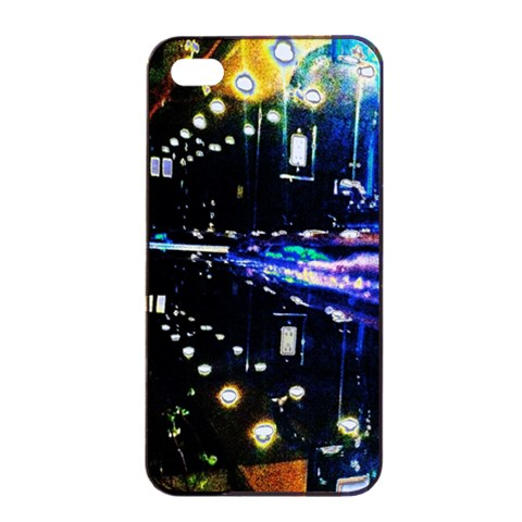 I Phone4/4s Case   Abstract Scene By Christine Carter   Apple Iphone 4/4s Seamless Case (black)   1t04ckhvghuv   Www Artscow Com Front