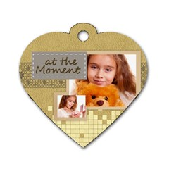 Mothers Love, Mon, Happy, Family, Heart,flower By Joely   Dog Tag Heart (two Sides)   Rdclxe0k1yps   Www Artscow Com Front