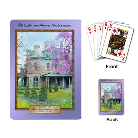 Thank You Playing Cards For Committee By Teresa Maguire   Playing Cards Single Design   Eq9f6sjxtr7l   Www Artscow Com Back