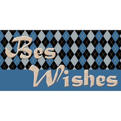 Birthday Wishes Blue 3d Greeting Card By Deborah   Happy Birthday 3d Greeting Card (8x4)   F5u4jcleobcf   Www Artscow Com Front
