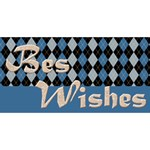 Birthday Wishes Blue 3D Greeting Card - Happy Birthday 3D Greeting Card (8x4)