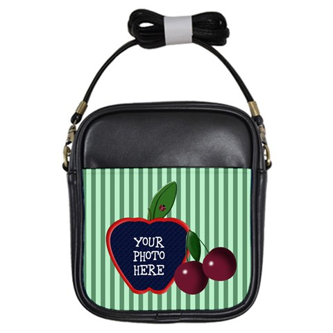 Cherry Girl Sling Bag By Chere s Creations   Girls Sling Bag   Us46h21gpfai   Www Artscow Com Front