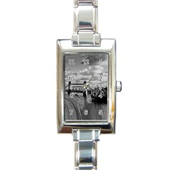River Thames Waterfall Classic Elegant Ladies Watch (rectangle) by Londonimages