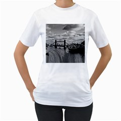 River Thames Waterfall White Womens  T Shirt by Londonimages