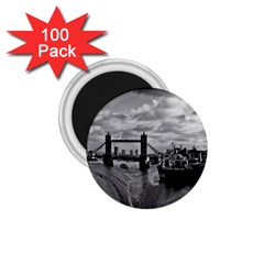 River Thames Waterfall 100 Pack Small Magnet (round)