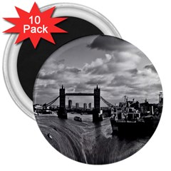 River Thames Waterfall 10 Pack Large Magnet (round) by Londonimages