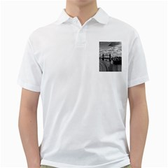 River Thames Waterfall White Mens  Polo Shirt by Londonimages