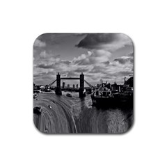 River Thames Waterfall 4 Pack Rubber Drinks Coaster (square)