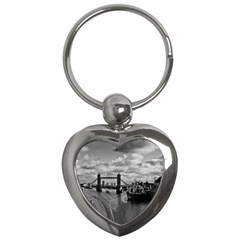 River Thames Waterfall Key Chain (heart) by Londonimages